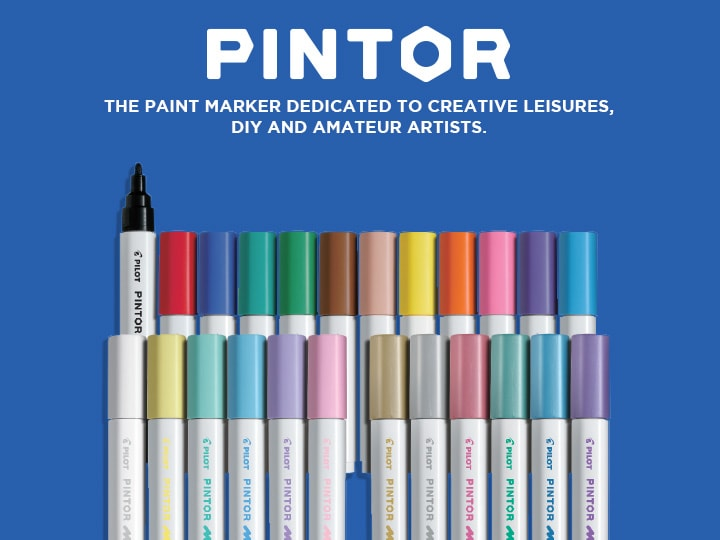 Pilot Pintor, the paint marker dedicated to creative leisures, DIY and amateur artists