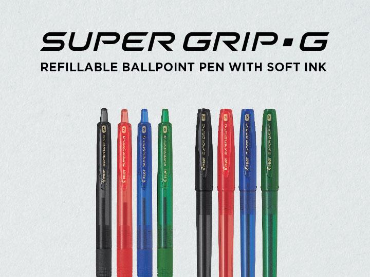Super Grip G Soft ink ballpoint pen by Pilot
