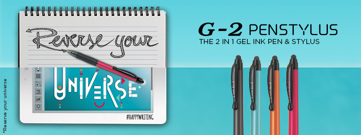 G-2 Penstylus - Gel ink rollerball with stylus by Pilot