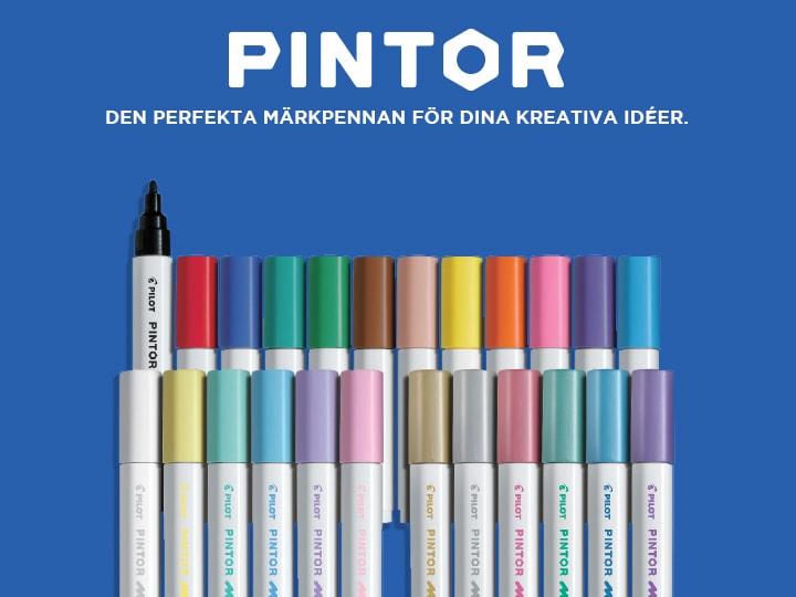 Pilot Pintor, den perfekta märkpennan för dina kreativa idéer.