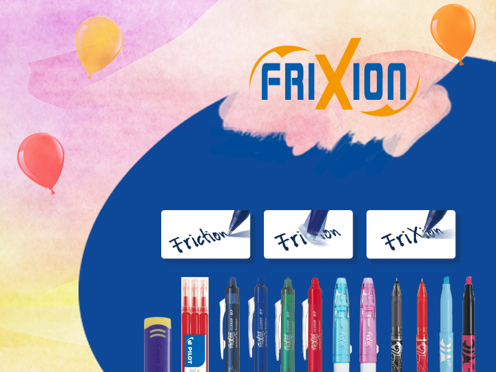 Pilot FriXion erasable pens
