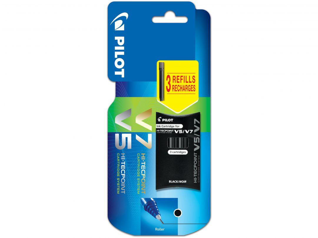 Blis Set of 3 Cartridges V5/V7 Refillable B