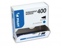 Permanent Marker 400 - Märkpennor - XXL pack - Blå - Bred Spets
