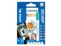 Pilot Pintor - 6 pack - Metallic Färger - Fine Spets