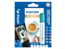 Pilot Pintor - 6 pack - Metallic Färger - Medium Spets