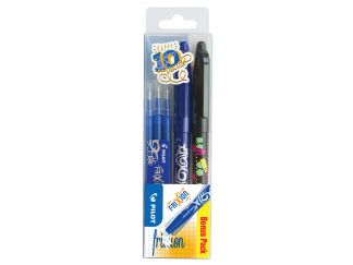 FriXion Ball - Gel Ink Rollerball - Wallet of 3 - Black, Blue - Medium Tip