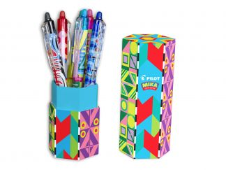 FriXion Ball Clicker 0.7 - Gel Ink Rollerball - Mika Limited Edition Pen Holder - Assorted colors - Medium Tip