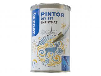 Pilot Pintor - Förpackning DIY Julkula - Sorterade färger - Fine Spets