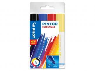 Pilot Pintor - 4 pack - Sorterade färger - Medium Spets