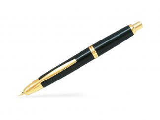 Capless Gold Trims - Black - Fine Nib - in a Gift Box