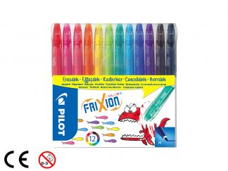 FriXion Colors - 12 pack - Sorterade färger - Medium Spets