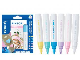 Pilot Pintor - Wallet of 6 - Pastel colours - Medium Tip