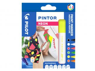 Pilot Pintor - Wallet of 6 - Neon Colours - Medium Tip