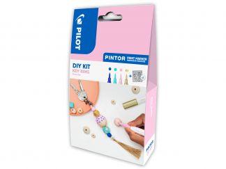 Pilot Pintor - DIY-Set Nyckelknippa - Blå, Pastell grön, Pastell rosa, Guld - Extra Fine Spets