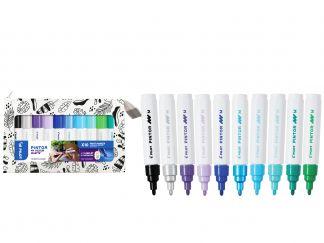 Pilot Pintor - Min Färgpallet -Set om 10 - Kalla färger - Medium Spets