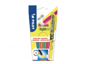 FriXion Light - 6 pack - Lila, Blå, Orange, Grön, Rosa, Gul - Medium Spets